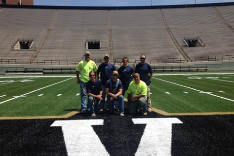 Sportsturf crew at Vandy
